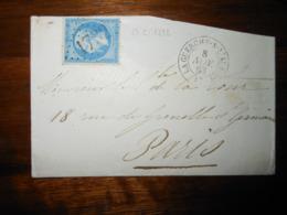 Enveloppe GC 1732 La Guerche Sur L'Aubois Cher - 1849-1876: Période Classique