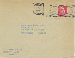 LILLE FRANKIRS 1948 DREYFUSS (LIL223) En 1994 Cote 20F Flamme Muette - Oblitérations Mécaniques (flammes)