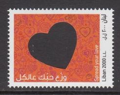 2018 Lebanon Liban Love Complete  Set Of 1 MNH - Libanon