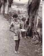 GRAN CANARIA BALEARES 1956 Sur La Route De ATALAYA Photo Amateur Environ 7,5 Cm X 5, 5 Cm - Plaatsen