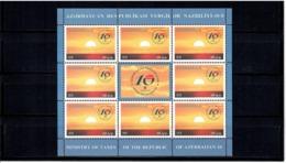Azerbaijan 2010 . Ministry Of Taxes. Sheetlet Of 8 + Label.  Michel # 788  KB - Azerbeidzjan