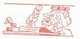 EMA METER STAMP FREISTEMPEL FRANQUEO MECANICO Leon Lion King Bird Peninkwell Disney Caracter Robin Hood - Disney