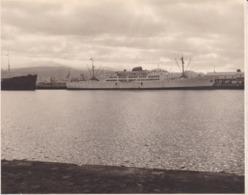BALEARES CANARIES Bateau Ernesto ANASTASIO Dans Le Port De LAS PALMAS 1956 Photo Amateur Environ 7,5 Cm X 5, 5 Cm - Barcos