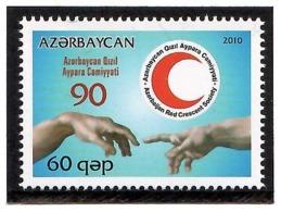 Azerbaijan 2010 . Red Cross - 90. 1v: 60 Qep.  Michel # 790 - Azerbeidzjan