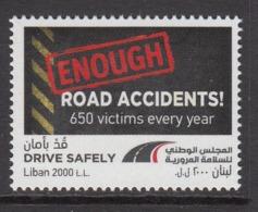 2018 Lebanon Liban Traffic Accidents Health  Complete  Set Of 1 MNH - Libanon