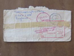 Zimbabwe 2002 Cover To England - Tax Due Cancel - Zimbabwe (1980-...)