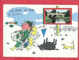 Carte  -  La Chasse Est Bonne à Culan  -  (chasseur , Chasseurs - Culan