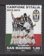 2013 San Marino Juventus Football Champions Complete  Set Of 1 MNH  @ BELOW FACE VALUE - San Marino