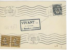 LYON FOIRE INTERNATIONALE RBV 1936 DREYFUSS (LYO381) En 1994 Côte 80F Frappée 2 Fois DEVANT SEUL - Marcophilie (Lettres)
