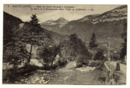 Cpa N° 2 Route Du Grand Bornand à Entremont Le Borne Et La Montagne Des Anges - France