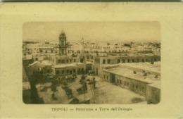 LIBIA / LIBYA - TRIPOLI - PANORAMA E TORRE DELL'OROLOGIO /  VIEW AND CLOCK TOWER - 1910s (BG4597) - Libya