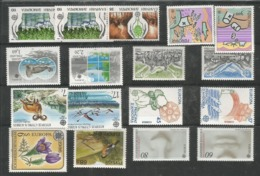 17 Stamps DIFFERENT - Europa-CEPT - MNH - Nature - 1986 - 1986