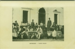LIBIA / LIBYA - BENGASI - CAFFÈ ARABO / BENGHAZI - ARABIC COFFEE - EDIT FIORONI - 1910s (BG4599) - Libya