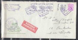 Expres Brief Met Spoorwegstempel Florenville Naar Bruxelles Le Recours Belge - 1970-1980 Elström