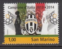 2014 San Marino Juventus Football Champions      Complete  Set Of 1 MNH  @ BELOW FACE VALUE - San Marino