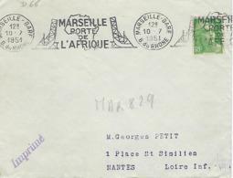MARSEILLE GARE 1951 DREYFUSS (MAR829) En 1994 Côte 60F MARSEILLE PORTE DE L'AFRIQUE PONT Carte Géographique - Oblitérations Mécaniques (flammes)