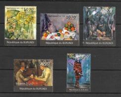 Burundi 2012 Art - Paintings - Paul Cezanne MNH - Art