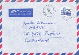 Norway Air Mail Flugpost Par Avion AFJORD 1983 Cover Brief TUTTWILL Switzerland - Briefe U. Dokumente