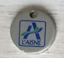 Jeton De Caddie  Département  CONSEIL GÉNÉRAL  DE  L' AISNE  ( 02 ) - Trolley Token/Shopping Trolley Chip