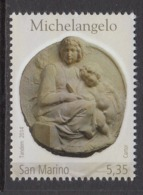 2014 San Marino Michelangelo Art   Complete  Set Of 1 MNH  @ BELOW FACE VALUE - San Marino