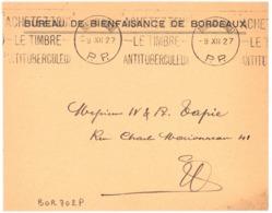 BORDEAUX ST - PROJET   P. P.  1927 Oblit. Krag : ACHETEZ TOUS LE TIMBRE... Port Payé - Oblitérations Mécaniques (flammes)