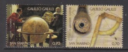 2014 San Marino Galileo Astronomy  Complete  Set Of 2 MNH  @ BELOW FACE VALUE - San Marino