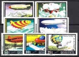 Mongolei 1977 Mi.nr: 1118-1124 Geschichte Der Ballons Und Der Luftschiffe  Oblitérés / Used / Gestempeld - Zeppelins