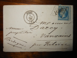 Enveloppe GC 1660 Givet Ardennes - Marcophilie (Lettres)