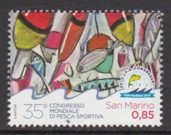 2014 San Marino Fishing Complete  Set Of 1 MNH  @ BELOW FACE VALUE - San Marino
