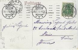 METZ SYLBE ET PONDORF 1913 DREYFUSS (MET101) En 1994 Côte 200Fsur Carte Postale De Metz - Oblitérations Mécaniques (flammes)