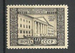 RUSSIA Russland 1952 Michel 1643 University Tartu Dorpat (*) - 1923-1991 USSR