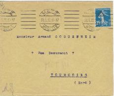 METZ SYLBE ET PONDORF 1922 DREYFUSS (MET111) En 1994 Côte 60Fpour Tourcoing - Oblitérations Mécaniques (flammes)