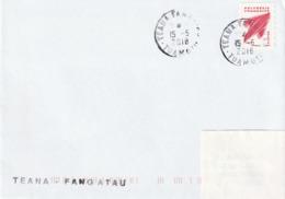 13106 TEANA - FANGATEAU - POLYNÉSIE FRANÇAISE - Griffe Linéaire - Lettres & Documents