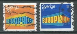 Suède YT N°615/616 Europa 1969 Oblitéré ° - Europa-CEPT