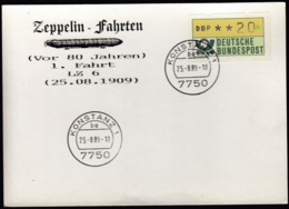 Germany 1989 / Zeppelin Fahrten -  25.08.1909 - LZ 6 -  Konstanz 25.-8.89 - Zeppelins