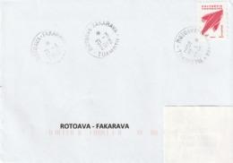 13108 ROTOAVA - FAKARAVA - POLYNÉSIE FRANÇAISE - Griffe Linéaire - Lettres & Documents