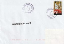 13110 TENOKUPARA - AHE - POLYNÉSIE FRANÇAISE - Griffe Linéaire - Lettres & Documents