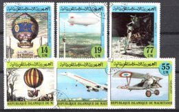 Mauretanien 1982 Mi.nr: 777-782 Geschichte Der Ballons Und Der Luftschiffe  Oblitérés / Used / Gestempeld - Zeppelins
