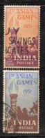 Y241 - INDIA 1951, Yvert Serie N. 32/33  Usata (2380A)  Asian Games - Usati