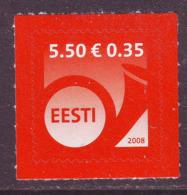 Estland 2008. Definitive Issue. 1 W. MNH. Pf. - Estland