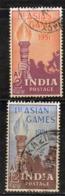 Y259 - INDIA 1951, Yvert Serie N. 32/33  Usata (2380A)  Asian Games - 1947-49 Dominion