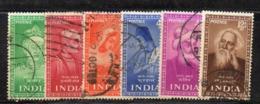 Y343 - INDIA 1952, Yvert Serie N. 37/42  Usata (2380A)  Santi E Poeti - Usati