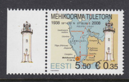 Estland 2008.Mehikoorma Lighthouse. MNH. Pf. - Estonie
