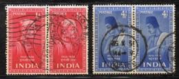 Y352 - INDIA 1952, Yvert N. 38+40 In Coppia  Usata (2380A) - Usati