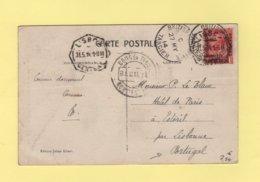 Morocco - Maroc - British Post Office Tangier - Tanger - 1914 - Destination Portugal - Oficinas En  Marruecos / Tanger : (...-1958