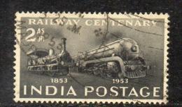 Y349 - INDIA 1953, Yvert N. 43  Usata (2380A)  Treni - Usati