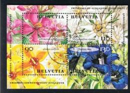 2001 20. Sept. Blumen Mi CH BL31  Sn CH 1107 Yt CH BF31 Sg CH MS1488 Zum CH 1033 Gut Gestempelt - Blocks & Kleinbögen