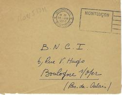 MONLUCON FLIER 1951 DREYFUSS (MON537M) En 1994 Côte 200F EN PORT PAYE PP DEVANT SEUL - Marcophilie (Lettres)