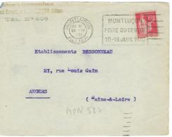 MONLUCON FLIER 1933 DREYFUSS (MON527) En 1994 Côte 200F DEVANT SEUL MONTLUCON FOIRE DU CENTRE 10 18 JUIN 1933 - Oblitérations Mécaniques (flammes)