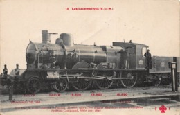 CPA 15 - Les Locomotives ( P-L-M ) - Machine Pour Trains Express Et Rapides, Modèle 1903 ( Côte D' Azur Rapide ) - Treinen